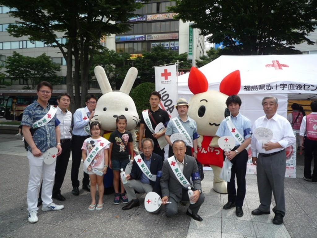 福島市街頭献血キャンペーン