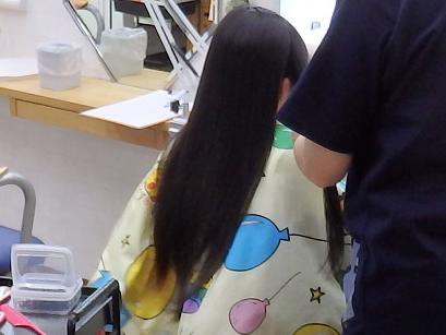 4歳までのばしつづけた長〜い髪